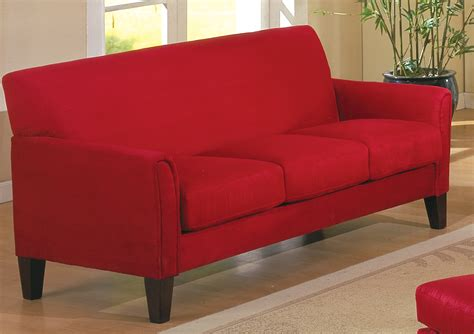 sofa red homelegance petite sofa red 9913rd 3