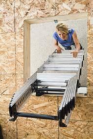 werner ladders televator telescoping attic ladder idea file view