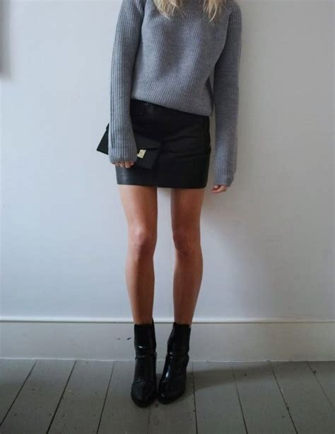 10 ideas about black leather mini skirt on