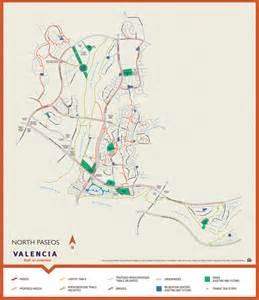 valencia paseo system and map valencia santa clarita ca