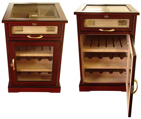 humidor wine rack cabinet cuban crafters wine and cigars cabinet humidor end table
