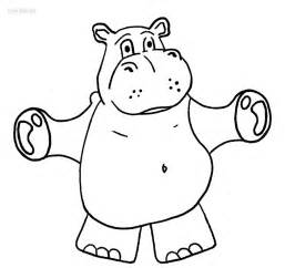 hippo printables hippo free colouring pages