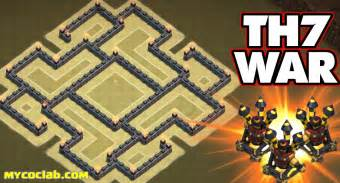 Th7 war base layout with air sweeper latest 2016 mycoclab clash