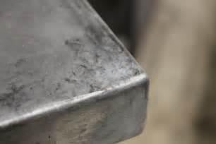 Distressed Kitchen Island vanhook amp co aging zinc