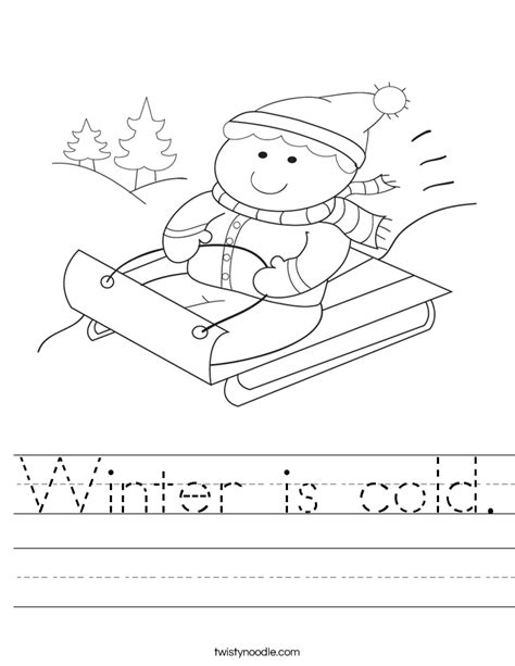 seasons and celestials an coloring book books winter is cold worksheet twisty noodle