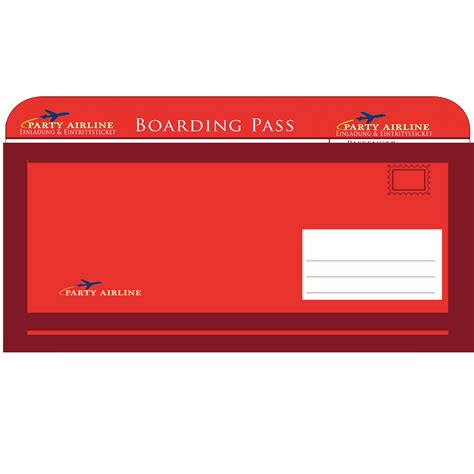 Muster Einladung Vorstellungsgespräch Ohne Kostenübernahme Einladungskarten Zum Geburtstag Briefumschlag Motiv Flugticket Rot 10 Einladungskarten F 252 R