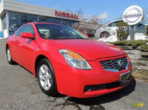 red nissan 2008 2008 code red metallic nissan altima 2 5 s coupe 78698236