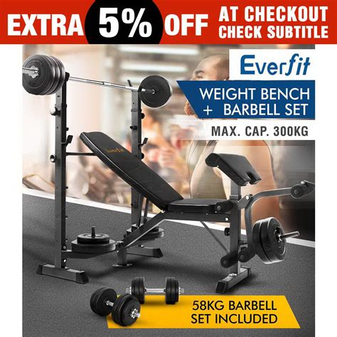 barbell set with bench fitness multi station weight bench press incline barbell