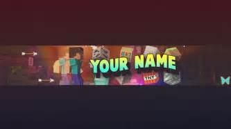 free minecraft youtube banner template photoshop psd