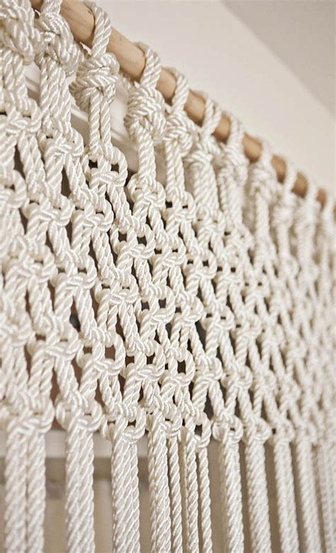 Macrame Rope Patterns - diy macrame curtain or could do slightly differently as