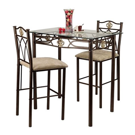 home source 3 pc bistro set by oj commerce crownbistro