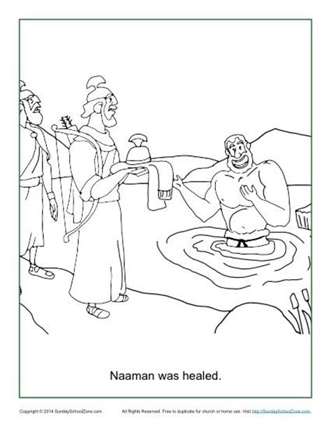 free bible coloring pages naaman naaman was healed coloring page children s bible