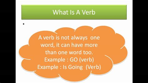 Is A by What Is A Verb