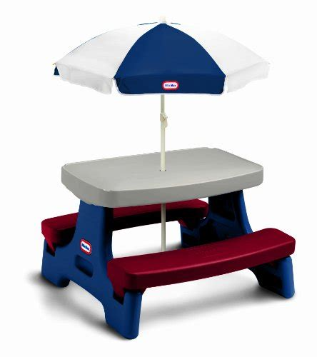 Tikes Easy Store Table tikes easy store jr play table with umbrella one