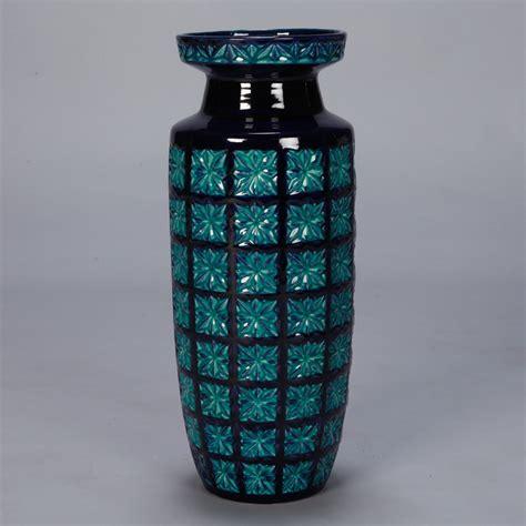 Teal Floor Vase by Mid Century German Floor Vase Item 7536