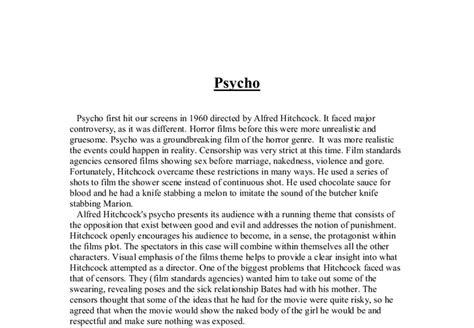 psycho essay psycho alfred hitchcock essay 11th hour essay