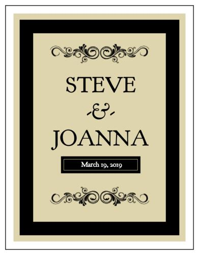 Black Wine Bottle Wedding Label Label Templates Ol450 Onlinelabels Com Wine Bottle Tag Template Free