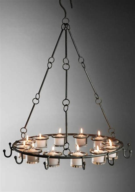 Metal Candle Chandelier With Hooks Random Selections How To Make A Candle Chandelier