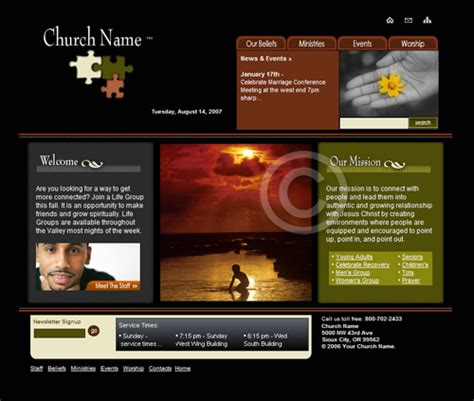 website templates church templates church web design