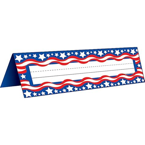 patriotic names patriotic 2 name plates tented tcr4300 created resources