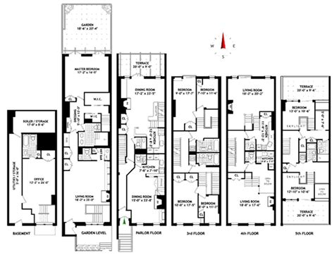large townhouse floor plans shoe mogul steve madden lists townhouse variety