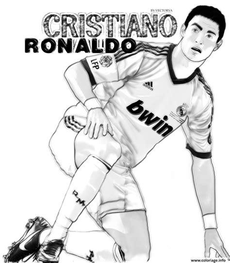 dessin de foot de ronaldo coloriage cristiano ronaldo vector surpris dessin