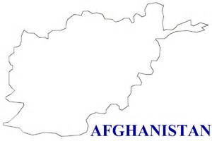 Afghanistan Pakistan Map Outline map of afghanistan terrain area and outline maps of