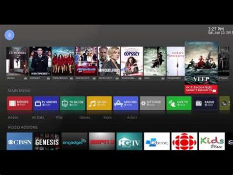 kodi tv for android android tv skin for kodi
