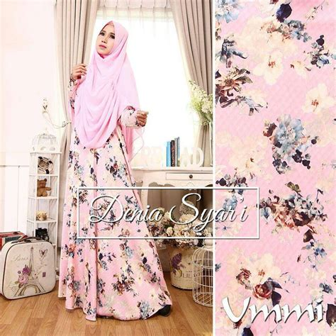 Gamis Pesta Pink Fanta muslim dress new from indonesia busana muslim pesta