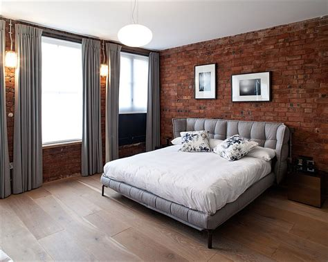 delightful  cozy bedrooms  brick walls
