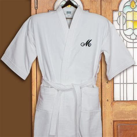 white cotton embroidered robe embroidered initial terry cloth cotton robe giftsforyounow