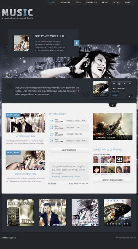 themes for facebook app 12 best music wordpress themes 2013 themes4wp