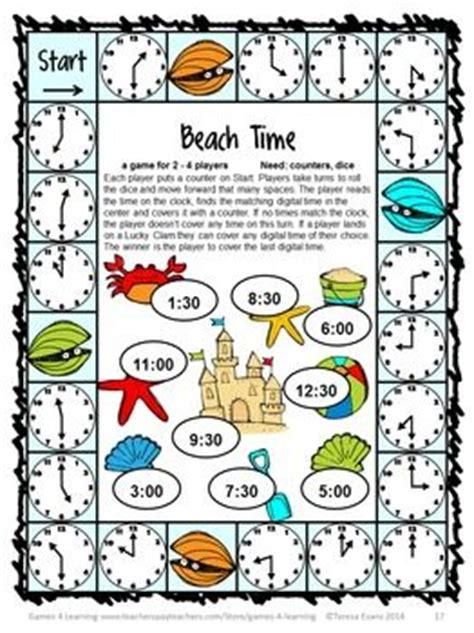 printable math board games for first grade end of year math games first grade