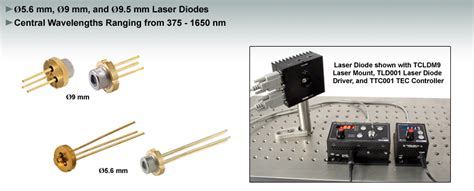 laser diode guide laser diodes 216 3 8 mm 216 5 6 mm 216 9 mm 216 9 5 mm and to 46 to cans