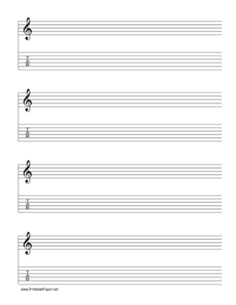 printable lined music paper printable staff and tablature treble clef 6 lines music paper