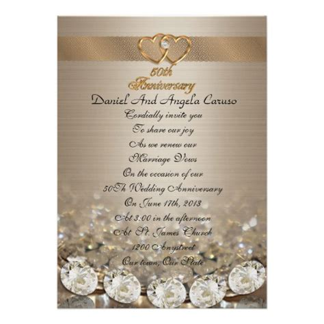 wedding renewal announcement wording 50th anniversary vow renewal invitation 5 quot x 7 quot invitation