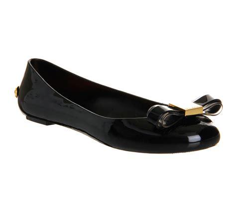 ted baker flat shoes womens ted baker escinta jelly ballerina black flats ebay