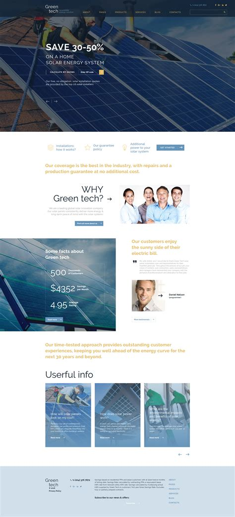 Solar Energy Bootstrap Template Solar Website Templates