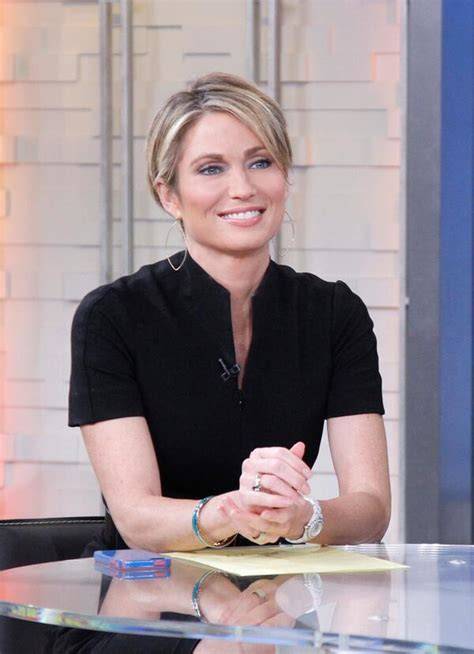 amy robach takes over as news anchor for josh elliott on amy robach haircut makes waves gma star takes control