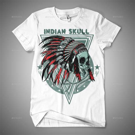design t shirt india indian skull t shirt design by azieescansee graphicriver