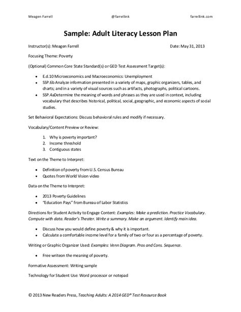 educational handout template lesson plan handout and template education pays