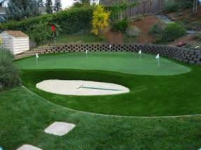 chipping greens for backyards progreen backyard practice putting green