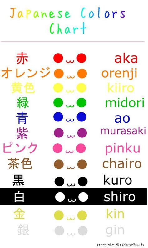 japanese color names learn japanese colors by misshoneyvanity on deviantart