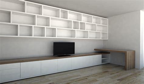 wandmeubel design kasten kasten op maat dressoir boekenkast tv kast als