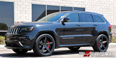 jeep cherokee black with black rims 22x10 inch lexani r04 gloss black w milled accents on