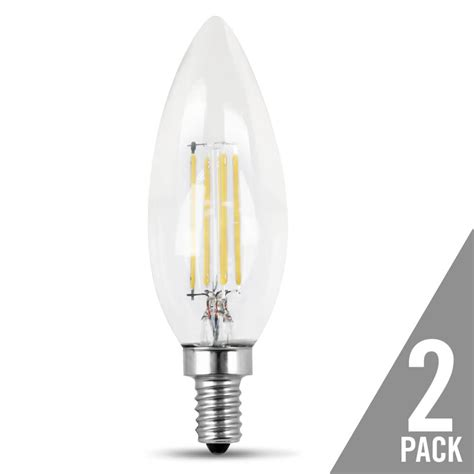 Can You Dim Led Light Bulbs 300 Lumen 2700k Dimmable Torpedo Tip Led Feit Electric
