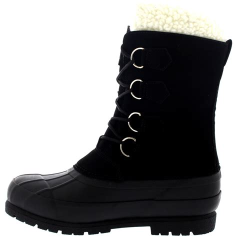 casual mens winter boots mens winter wool lined 100 rubber duck sole warm casual
