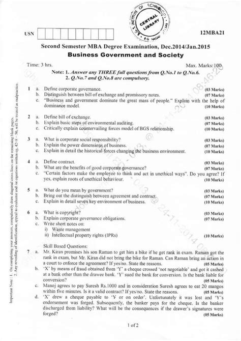 Mba Second Semester Question Papers Pune by 2nd Semester Mba December 2014 Question Papers