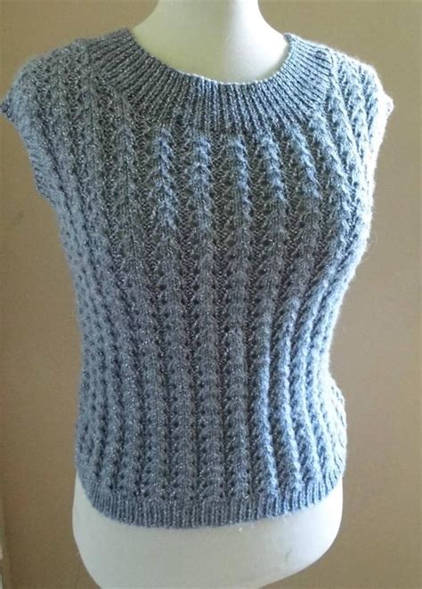 knitted sleeveless jumper retro vintage style tank top sleeveless sweater