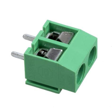 Terminal Block 2 Pin Skrup Pcb Blok 2p Pitch 5mm sale 20pcs 2 pole 5mm pitch pcb mount terminal block 8a 250v ts